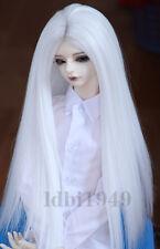 "1/3 8-9"" Bjd Wig Dal Pullip BJD SD LUTS DOD DD Dollfie Doll wig Long White wig"