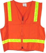 Surveyors Vest Orange with Lime Stripes - Size 3XL - Made in USA