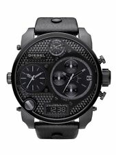 NEW!! DIESEL SBA MR DADDY BLACK OUT 4 TIMES 57MM MEN'S WATCH DZ7193