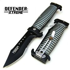 "8.5"" HEAVY DUTY GRIP TACTICAL SPRING ASSISTED POCKET KNIFE folding open EDC"
