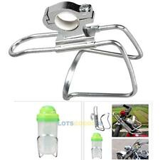 Cycling Bike Bicycle Aluminum Alloy Handlebar Water Bottle Holder Silver LS4G