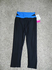 RE ACTIVATE BLACK ELECTRIC BLUE ATHLETIC PANTS SIZE XS INSEAM 20 NWT