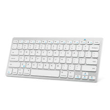 Anker Bluetooth Ultra-Slim Keyboard for Mobile Devices - White