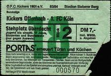 Ticket BL 83/84 Kickers Offenbach - 1. FC Köln, 04.02.1984