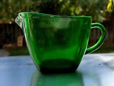 Anchor Hocking Forest Green Charm Creamer