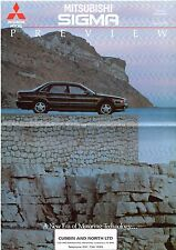 Mitsubishi Sigma Saloon 3.0 V6 Preview 1991 UK Market Foldout Sales Brochure