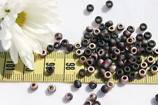 6/0 Toho Seed Beads 121-HYBRID Frosted Jet Apollo / 10 grams  # Y852