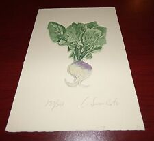 RADISH SIGNED LIMITED EDITION ETCHING FLOWERS 132/200 VEGETABLES PLANTS