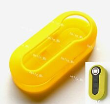 Yellow Hard Case Cover Combined Shell Fit For Fiat 500 Brava Panda Flip Car Key