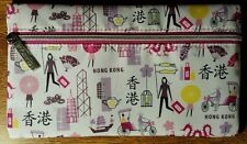 "Clinique Cosmetic Makeup Bag Hong Kong Theme Zippered New/Unused 8.5""x5"""