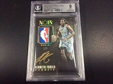 2014-15 Panini Noir Kenneth Faried 2/3 Tag Logoman Patch Gold ink Auto Autograph