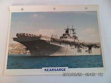 CARTE FICHE NAVIRES DE GUERRE KEARSARGE 1992 PORTE HELICOPTERES D'ASSAUT