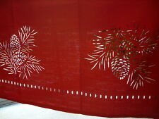 52x70FITtable upTO28x46oblongTableclothRed Hemstitch LaserCut Border DIRECT2HOME