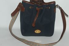 VTG BURBERRY LONDON NOVA CHECK CANVAS & LEATHER TOTE SHOULDER BAG MADE IN ITALY