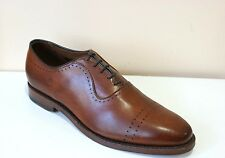 Allen Edmond Vernon Saddle Brown Leather Oxford Dress Shoes Mens 8 NEW