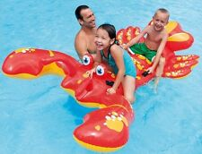 GIANT 7FT INFLATABLE LOBSTER RIDE ON SWIMMING POOL BEACH  LILO FLOAT TOY TY6138