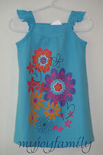 HANNA ANDERSSON Bright Side Ruffle Sleeve Dress Blue Floral 80 18-24 mo 2T 2 NWT