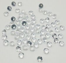 400Pcs White Crystal Birthstones Floating Charm for Glass Living Memory Locket