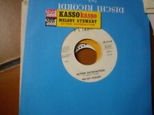"7"" PROMO + STICKER KASSO KASSO MELODY STEWART ACTION SATISFACTION EX"