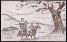 DAVEY CROCKET Vintage Penny Arcade Exhibit Card Davy Scouting Wild Frontier #1