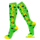 PICKLE SOCKS - PICKLES GREEN & YELLOW KNEE HIGH UNISEX SLIM FIT DRESS SOCKS