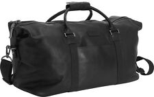 "Kenneth Cole Reaction Colombian Leather 20"" Zip Duffel Bag Luggage - Black"
