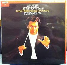 ZUBIN MEHTA mahler symphony no 4 LP Mint- SXDL 7501 UK 1979 Record