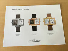 Used in shop - Press Release REVERSO DUETTO CLASSIQUE Jaeger-LeCoultre - Usado