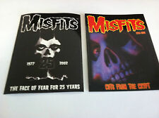 THE MISFITS 2-Pack of Stickers Face Of Fear & Cuts Crypt NEW OFFICIAL Danzig