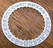 Eta 2824-2 fecha ring f3 blanco/negro Fuente-date indicator Wheel-nuevo