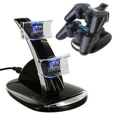 USB Dual Double Charger Dock Charging Station Fr PS3 Wireless Controller Gamepad