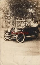 Postcard RPPC Boy Driving Antique Car 1915 License Plate