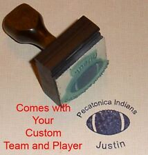 Football Rubber Stamp With Your Custom Team and Player