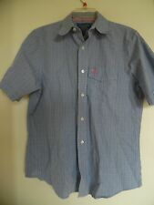 Men's Abercrombie and Fitch  Blue Plaid Button Down Shirt  Sz  L