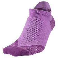 NIKE Elite Dri Fit Cushioned Reflective Purple Running Socks Womens 9.5-11