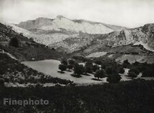 1927 Vintage FRANCE Perpignan Carcassone Mountain Landscape Photo By HURLIMANN