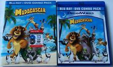 RARE OOP MADAGASCAR BLU RAY DVD TARGET EXCLUSIVE + SLIPCOVER SLEEVE FREE SHIPING