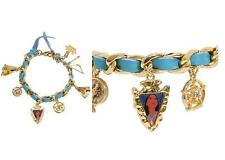 DISNEY COUTURE POCAHONTAS COMPASS/BOW & ARROW/TEEPEE 6 CHARMS BRACELET**4 LEFT!!
