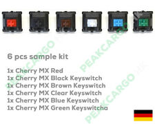 6 Colour Cherry MX Keyswitch Mechanical Keyboard Switches Sample Kit Replacement