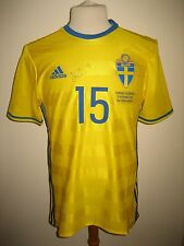 Sweden vs Hungary MATCH WORN Hiljemark SIGNED football shirt soccer jersey sz L