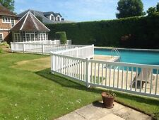 POOL FENCING VINYL PVC POST AND RAIL