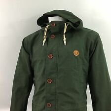 Fred Perry Mens Hooded Parka jacket green small 38 S Water proof coat RRP £170