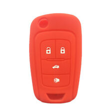 4 Buttons Red Silicone Key Fob Case Key Cover Jacket fit for Chevrolet