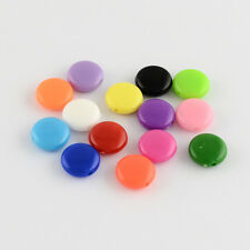 200pcs Opaque Acrylic Beads Flat Round/Lentil Mixed Color Beading Charms 8x4mm