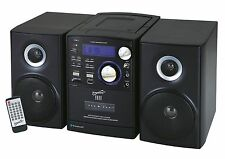 New Supersonic SC807 Shelf Bluetooth Stereo System CD/MP3/Bluetooth/Radio/USB/SD