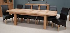 Phoenix solid oak furniture large grand extending dining table