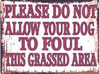 DOG FOUL METAL SIGN RETRO VINTAGE STYLE SMALL