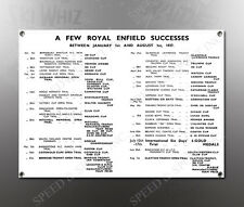 VINTAGE ROYAL ENFIELD 1938 SUCCESSES IMAGE BANNER NOS IMAGE REPRODUCTION