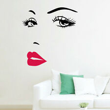 New Lady face Beautiful sexy lip home decor Wall sticker wall decals Art mural