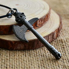 New Fashion Men's axe Pendant Black Stainless Steel Charm Necklace Jewelry Gift